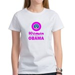 Women for Obama Pink Women's T-Shirt