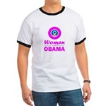 Women for Obama Pink Ringer T