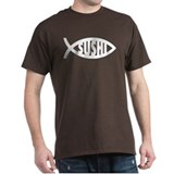 Sushi Fish Symbol Black T-Shirt