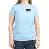 Science Fish Symbol Women's Pink T-Shirt