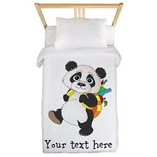 Personalize It - Panda Bear backpack Twin Duvet