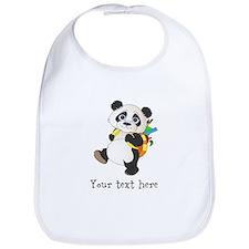 Personalize It - Panda Bear backpack Bib