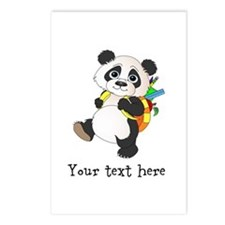 Personalize It - Panda Bear backpack Postcards (Pa