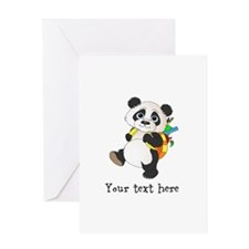 Personalize It - Panda Bear backpack Greeting Card