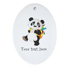 Personalize It - Panda Bear backpack Ornament (Ova
