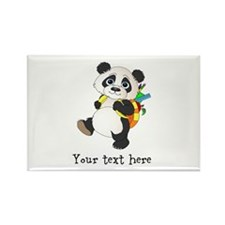 Personalize It - Panda Bear backpack Rectangle Mag
