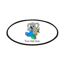 Personalize it - Koala Bear with backpack Patches