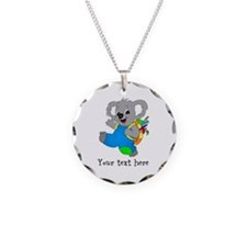 Personalize it - Koala Bear with backpack Necklace