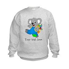 Personalize it - Koala Bear with backpack Jumper Sweater