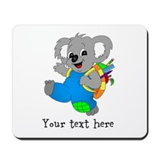 Personalize it - Koala Bear with backpack Mousepad