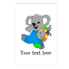 Personalize it - Koala Bear with backpack Postcard