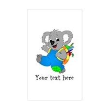 Personalize it - Koala Bear with backpack Stickers
