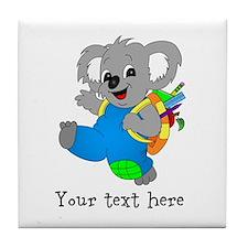 Personalize it - Koala Bear with backpack Tile Coa