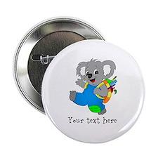 "Personalize it - Koala Bear with backpack 2.25"" Bu"