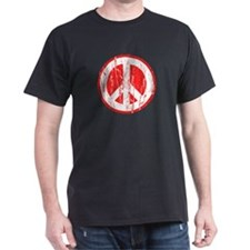 Vintage Peace Sign Black T-Shirt
