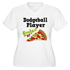 Dodgeball Player Pizza T-Shirt