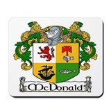 McDonald Coat of Arms Mousepad