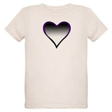 Asexual Flag Heart T-Shirt