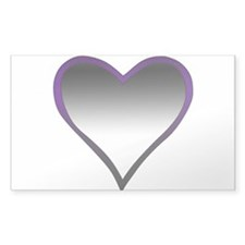 Asexual Flag Heart Decal