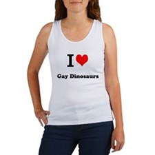 I Heart Gay Dinosaurs Women's Tank Top