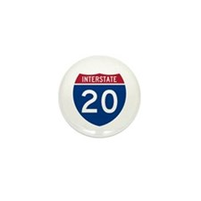 I-20 Highway Mini Button (100 pack)