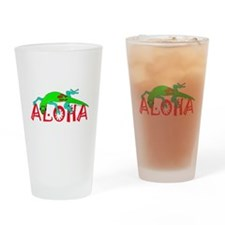 Gecko Aloha Drinking Glass