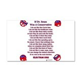 dr seuss conservative.png Car Magnet 20 x 12
