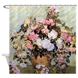 Van Gogh Roses Shower Curtain