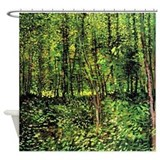 Van Gogh Trees And Undergrowth Shower Curtain