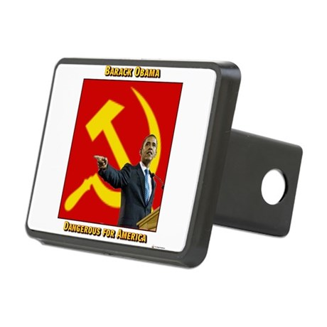 obama communist flag.png Rectangular Hitch Cover