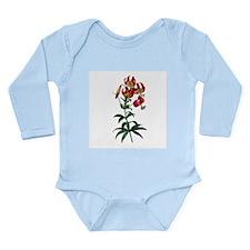 Pierre-Joseph Redoute Lily Long Sleeve Infant Body