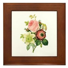 Pierre-Joseph Redoute Flowers Framed Tile