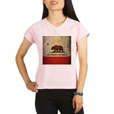 Grunge California Flag Performance Dry T-Shirt