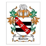 Hadsor Coat of Arms Small Poster