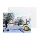 Backyard Ice rink Greeting Card