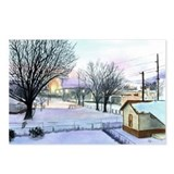 Backyard Ice rink Postcards (Package of 8)