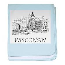 Vintage Wisconsin baby blanket