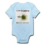 Cute Flyfishing Infant Bodysuit