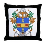 Grainger Coat of Arms Throw Pillow