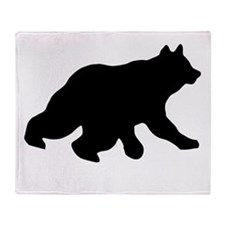 Black Bear Cub Crossing Walking Throw Blanket