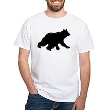 Black Bear Cub Crossing Walking Silhouette Shirt