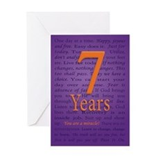 7 Year Recovery Birthday Greeting Card