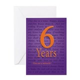 6 Year Recovery Birthday Greeting Card