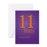 11 Year You are a Miracle Greeting Card