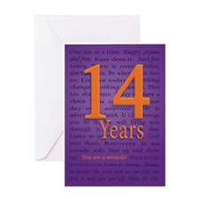 14 Year You are a Miracle Greeting Card