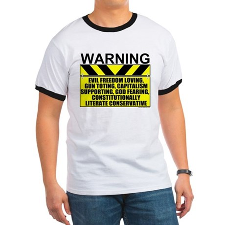 Evil Conservative Warning Ringer T