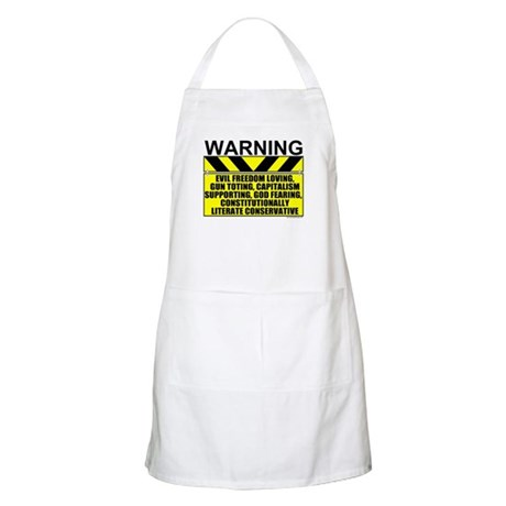 Evil Conservative Warning BBQ Apron