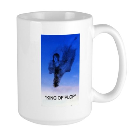 king of plop with text Large Mug
