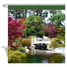 Japanese GArden and Bridge.png Shower Curtain