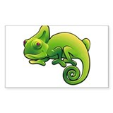 Purple Eyed Green Horned Chameleon Decal